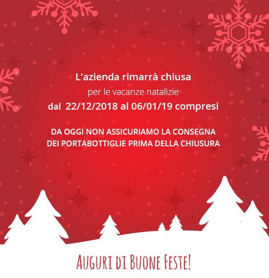 avviso chiusura natalizia