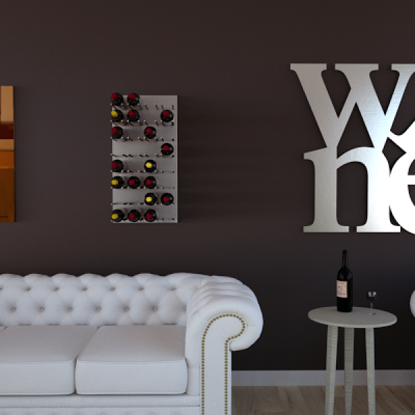 Portabottiglie cabernet doppio portabottiglie da parete linea vino - Porta vino da parete ...