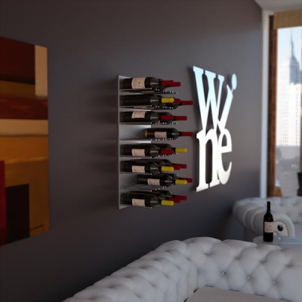 Wine wall portabottiglie da parete linea vino - Portabottiglie in legno ikea ...